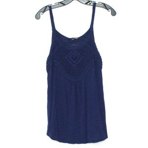 Cable & Gauge Navy Blue Tank Top Womens Medium B2